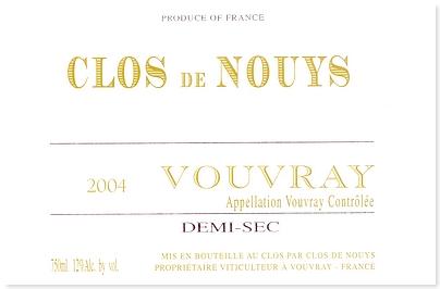 CLOS DE NOUYS DEMI-SEC 2004